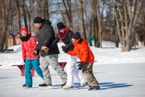 Patinaje sobre hielo en Lanaudiere