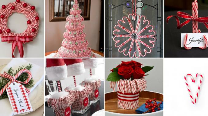 7 ideas de decoración Navideña con bastones de caramelo