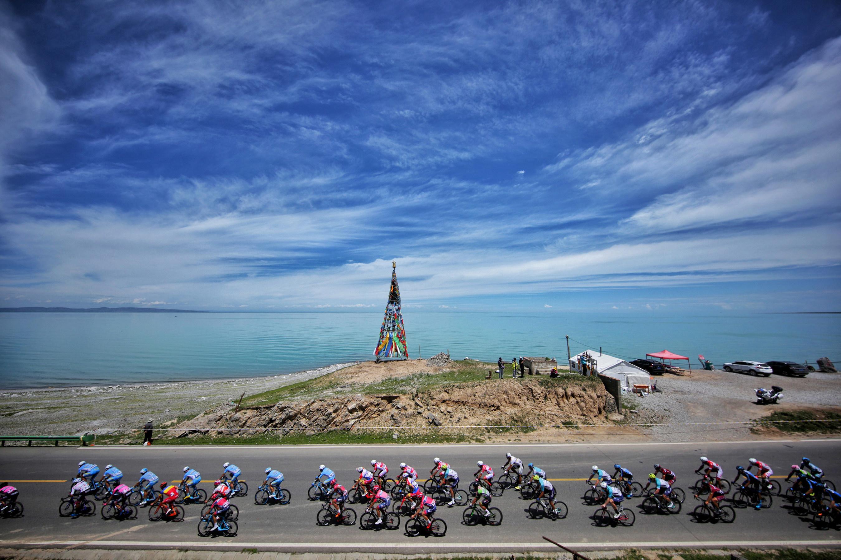Tras las impresionantes vistas de la ruta de la carrera ciclista del lago Qinghai